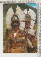 PAPUA NEW GUINEA KALULI MEN IN CEREMONIAL HEADDRESS VG NO STAMP - Papua-Neuguinea