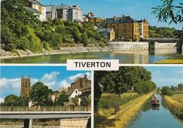 Postcard Tiverton Devon Multiview PU 1981 [ John Hinde ] My Ref B24279 - Inglaterra