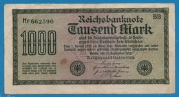 DEUTSCHES REICH 1000 Mark  15.09.1922 Code BB  # Hr 662590 P# 76a - [ 3] 1918-1933 : Weimar Republic