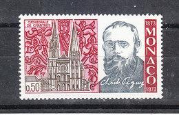 Monaco  - 1973.  Cattedrale Di Chartres. Luogo Di Preghiera Di C. Péguy.Place Of Prayer Of C. Péguy. MNH - Kerken En Kathedralen