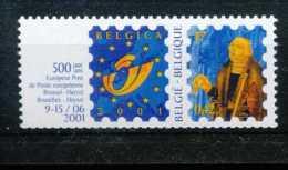 [810197]TB//**/Mnh-BELGIQUE 2000 - N° 2932, Belgica 2001, François De Tassis + Logo, Curiosité: Décalage De Découpage, R - Rollen
