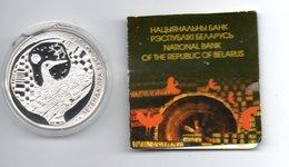 BELARUS WIT RUSLAND 20 ROEBEL 2008 ZILVER PROOF STORK (CAPSEL DAMAGED) - Belarus