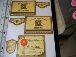 Lot étiquettes De Vin ALSACE Riesling/Sylvaner/gewurztraminer...... - Blancs