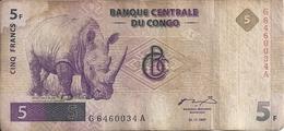 CONGO 5 FRANCS 1997 VG+ P 86 - Zonder Classificatie