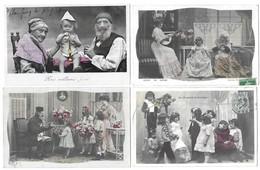 Fantaisies Gros Lot De 1000 CPA Femmes/Enfants/Couples/Fètes/Gauffrées/illustrations... - Cartes Postales