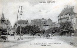 SAINT MALO  Château Et Porte St Vincent Vus Du Casino  Série Toute La Bretagne N° 1130 Ouvrier électricien Au Poteau - Saint Malo