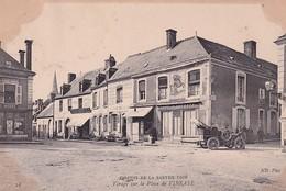 D72  Circuit De La Sarthe 1906 Virage Sur La Place De VIBRAYE  .............  Varte Peu Courante - Vibraye