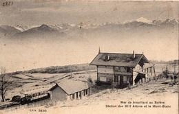 MER DE BROUILLARD AU SALEVE STATION DES 13 ARBRES ET LE MONT-BLANC - France