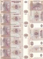 CONGO 50 FRANCS 2007 UNC P 97 ( 10 Billets ) - Zonder Classificatie