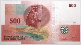 Comores - 500 Francs - 2006 - PICK 15a - NEUF - Comore