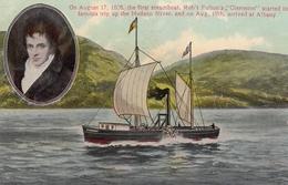 "Robert Fulton & Steamer ""CLERMONT"" , 00-10s - Paquebots"