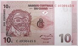 Congo (RD) - 10 Centimes - 1997 - PICK 82a - NEUF - Congo