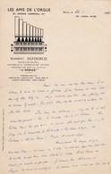 RARE LETTRE DE NORBERT DUFOURCQ EN 1955 ORGANISTE ORGUE D' EGLISE MUSICIEN PROFESSEUR - Autographes