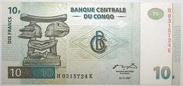 Congo (RD) - 10 Francs - 1997 - PICK 87B - NEUF - Congo