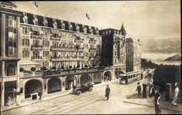 Cp Lausanne Kanton Waadt Schweiz, Hotel Central Und Bellevue, Place St Francois - VD Vaud