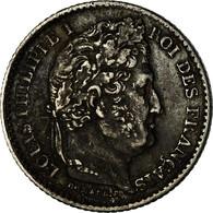 Monnaie, France, Louis-Philippe, 25 Centimes, 1845, Rouen, TB, Argent - France