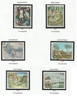 Monaco N° 967 à 972 Oblitérés Tableau Peintre Peinture  -année 1974 - Monaco
