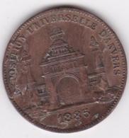 Medaille EXPOSITION UNIVERSELLE D'ANVERS 1885 ANTWERPEN, Par Wiener - Bélgica