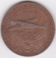 Medaille 1928 Bremen First East To West Transatlantic Flight. Baron Huenefeld. Major Fitzmaurice. Captain Koehl - Duitsland
