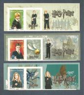 France, Autoadhésif, Adhésif, 4024A, 4025A, 4026A, 114, 115, 116, Neuf **,TTB, Harry Potter,Ron Weasley,Hermione Granger - Adhésifs (autocollants)