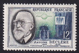 FRANCE 1957 - YT N°1096 - 12 F. Bleu, Vert Et Noir - Savants Et Inventeurs - Antoine Béclère - Neuf** - TTB Etat - France