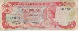BILLETE DE BELIZE DE 5 DOLLARS  DEL AÑO 1980 (BANKNOTE) - Belice