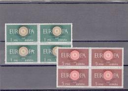 España Nº 1294 Al 1295 En Bloque De Cuatro - 1951-60 Neufs