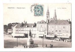 CPA 28 CHARTRES Place Des Epars Avec Un Timbre Acheter Immédiatement - Chartres