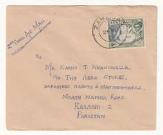 1960 ZANZIBAR TO PAKISTAN COVER WITH 50S STAMP - Zanzibar (1963-1968)