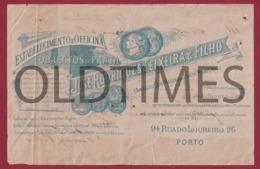 PORTUGAL - PORTO - ESTABELECIMENTO E OFICINA DE OBJECTOS DE PRATA - JOSE RODRIGUES TEIXEIRA & FILHO 1902 FACTURA INVOICE - Portugal