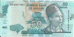 MALAWI 50 KWACHA 2018 UNC P 64 E - Malawi