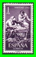ESPAÑA 3 SELLO AÑO 1961 NAVIDAD - 1961-70 Nuevos & Fijasellos