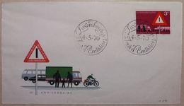 Entiers Postaux – FDC Sécurité Routière, Panneaux De Signalisation, Bus, Camion, Vélo Moteur, Voiture (road Safety) - Accidents & Road Safety