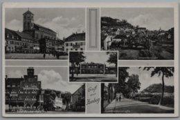 Homburg Saar Pfalz - S/w Mehrbildkarte 2   Mit Neutralem Feldpoststempel C Von 1940 - Saarpfalz-Kreis