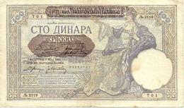 Billet Serbie/ Yugoslavie 100 Dinar - Yugoslavia