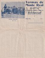 PORTUGAL - TERMAS DE MONTE REAL - INFORMAÇOES TECNICAS - 1930 OLD PAPER - Portugal