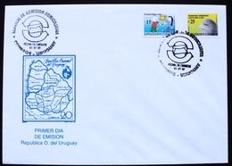 1997 URUGUAY  FDC POSTMARK Eagle Correo Domiciliario- Postal Service Of Home Admission- Postman Facteur - Uruguay
