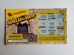 Billet De Loterie Instantanée,  Janelas Da Sorte. Portugal - Billets De Loterie