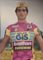 Postcard Alessio Di Basco -  Gelati Gis-Ballan-Zucchini - 1991 - Ciclismo