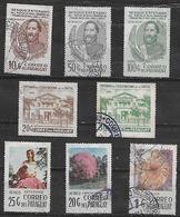 1977 Paraguay 8v. Personajes-cent. Colegio Nacional-artesania ñanduti Flora Lapacho - Paraguay