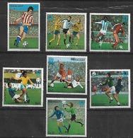1978 Paraguay 7v. Deporte Futbol Argentina 78 - Paraguay