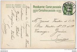 39 - 16 - Entier Postal 5cts Avec Superbe Cachet à Date Morgins (Valais) 1917 - Entiers Postaux