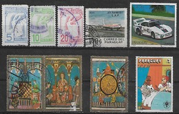 1980 Paraguay 9v. Avion-auto-correo-cuento Caperusita - Paraguay