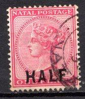 NATAL - (Colonie Britannique) - 1895 - N° 56 - (Timbre De 1882-87 Surchargé : HALF) - (Victoria) - Sud Africa (...-1961)