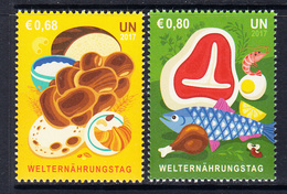 2017 United Nations Vienna World Food Day Healthy Eating  Complete Set Of 2  MNH @ BELOW FACE VALUE - Wien - Internationales Zentrum