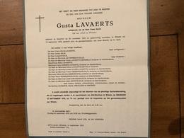 Lavaerts Gusta Echtg Gilis *1919 Aarschot +1978 Wilsele Verbeeck Gilis Serieels Wagner Van Elsen - Obituary Notices