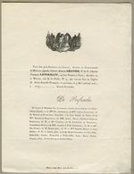 Lot De Deux Faire-part Concernant L'archéologue, égyptologue Et Numismate Charles LENORMANT (1802-1859) - Ohne Zuordnung