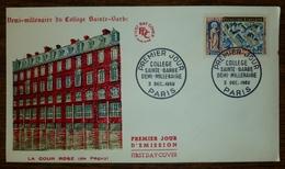 FDC  FRANCE 1960 - Collège Sainte Barbe YT 1280 - Paris - FDC