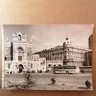 Orig. Old Large Photo Zabica Autobusna Bus Croatia Fiume 1960's. Rijeka Kapucinska Crkva The Capuchin Church - Fotografie En Filmapparatuur