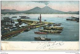 Italie  NAPOLI  , Veduta   Del Porto  E Vesuvio   En 1901 - Napoli (Naples)